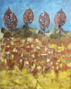 4 Leaves on a Hill_20 x 16